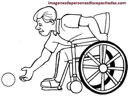 dibujos de discapacitados para imprimir colorear
