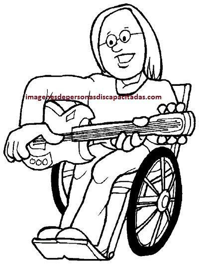 dibujos de discapacitados para imprimir infantiles