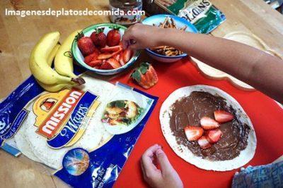 comida para preparar con niños postres