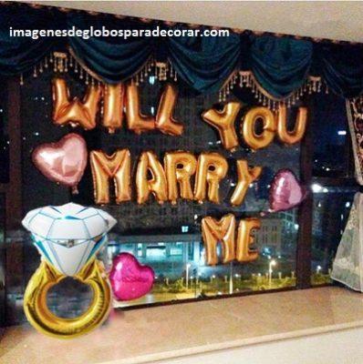 decoraciones romanticas con globos romantica