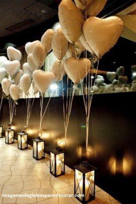 decoraciones romanticas con globos sorpresa