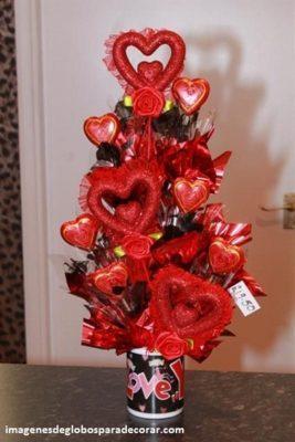 decoracion con globos para san valentin arreglos