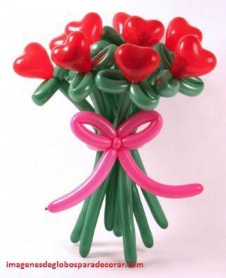 decoracion con globos para san valentin originales