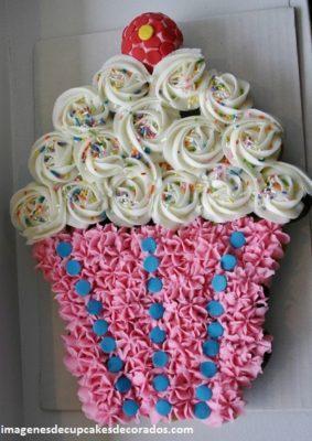 imagenes de pasteles con cupcakes figuras