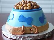 Cuatro imagenes hermoso pastel cumpleaños para perros