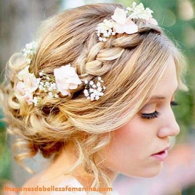 peinados elegantes para una boda trenza