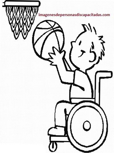 Dibujos de niños con discapacidades diferentes para colorear - Paperblog