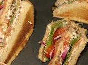 Sándwich club salmón