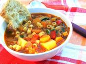 Sopa pistones hortalizas