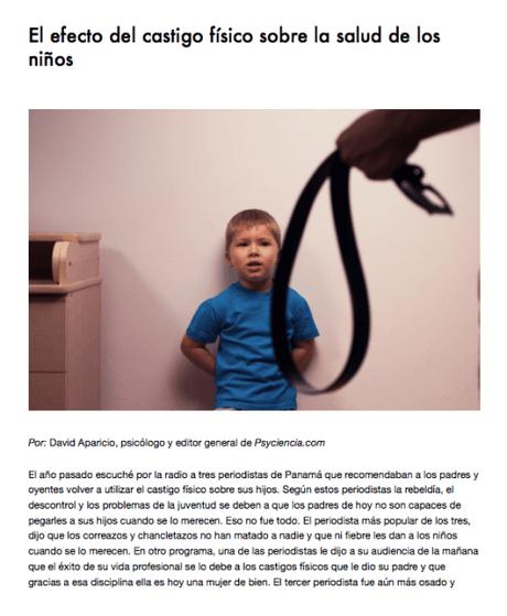 El efecto de las nalgadas y correazos en la salud de los niños