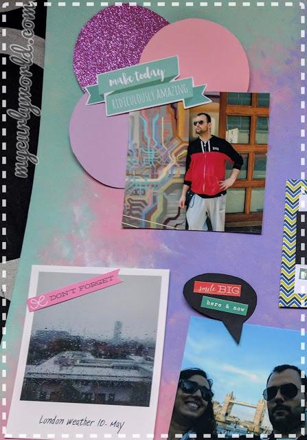 * DIY Background Scrap fotocollage *
