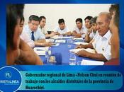 Nelson chui reúne alcaldes huarochirí…