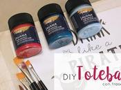DIY: Totebag pintada mano. (Desafío Handbox)