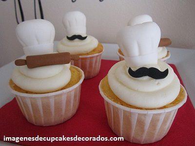 cupcakes de feliz cumpleaños para hombres cheff