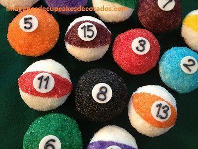 cupcakes de feliz cumpleaños para hombres billar