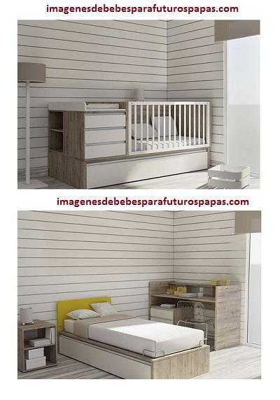 Dise os o modelos de cama cunas en madera modernas para - Cuna que se convierte en cama ...