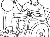 Dibujos imagenes para colorear discapacitados silla