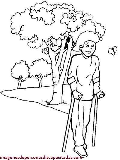 Dibujos O Imagenes Para Colorear De Discapacitados En