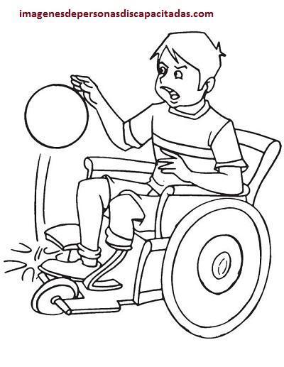 Dibujos O Imagenes Para Colorear De Discapacitados En Silla