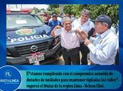Gore lima entrega primeras camionetas reforzarán patrullajes integrados huaura…