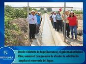 podrá irrigar hectáreas terrenos cultivo: INAUGURAN KILÓMETROS CANALES RIEGO SUPE BARRANCA…