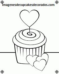 Cuatro Hermosos Dibujos Para Colorear De Cupcakes Decorados