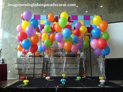 Cuatro Imagenes Con Globos De Helio De Cumpleaños Para