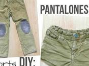 Shorts niña reciclando pantalones