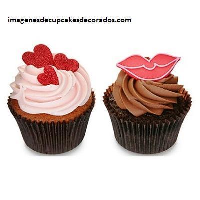 diseños de cupcakes de amor crema
