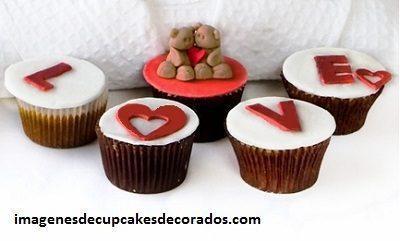 diseños de cupcakes de amor aniversario