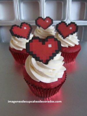diseños de cupcakes de amor novios