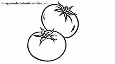Cuatro Imagenes Con Frutas Y Verduras En Dibujos Para Pintar