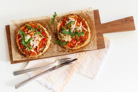 pizza sana de brocoli