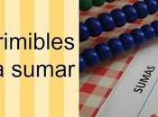 Ficha imprimible para aprender sumar (con ábaco)