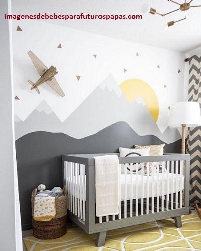 Ideas para decorar cuarto de bebe varon con adornos de - Ideas para habitacion de bebe ...
