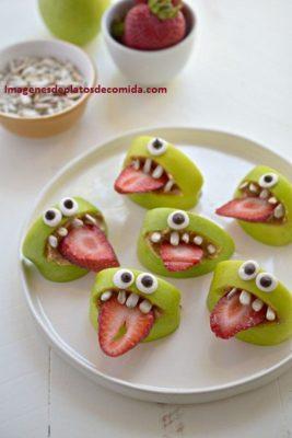 comida con frutas para niños faciles decoradas