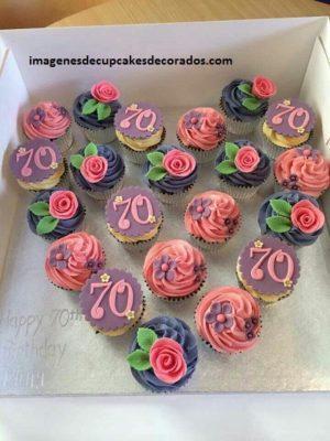 cupcakes para cumpleaños de mujer figuras