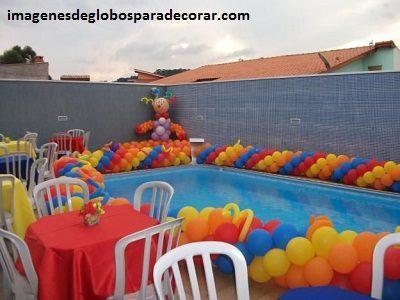 decoracion con globos para fiesta infantil de nio adornos