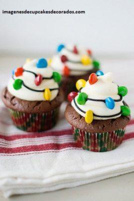 imagenes de cupcakes navideños sencillos