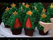 Cuatro imagenes cupcakes navideños decorados faciles