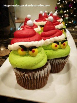 imagenes de cupcakes navideños decorados