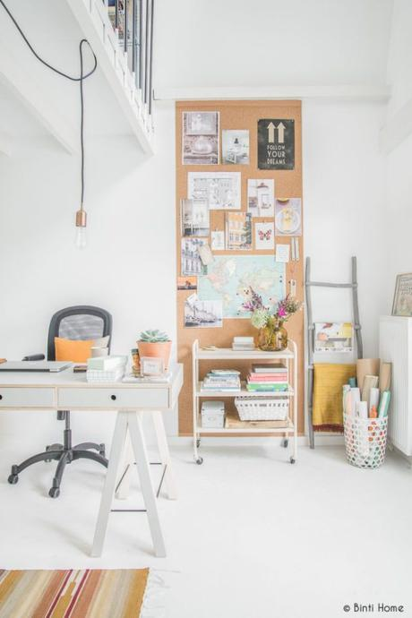 Deco: Paredes de pizarra para oficinas en casa
