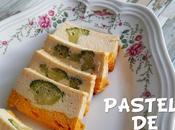 Pastel verduras: coliflor, brócoli zanahoria