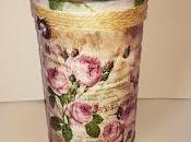 DECOUPAGE Bote reciclado decorado servilletas papel