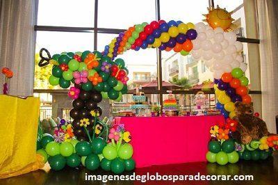 decorar fiesta infantil con globos arreglos