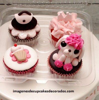cupcakes para quince años decorados con fondant decoracion