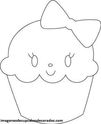 dibujos de cupcakes tiernos para colorear pintar