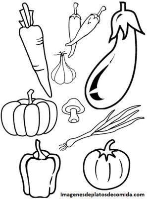 dibujos de comidas saludables para colorear imprimir