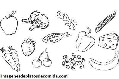 imagenes de alimentos nutritivos para ninos para colorear