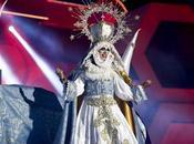 drag queen imitó Virgen María.